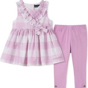 NWT-CALVIN KLEIN BABY GIRLS MATCHING OUTFIT SET